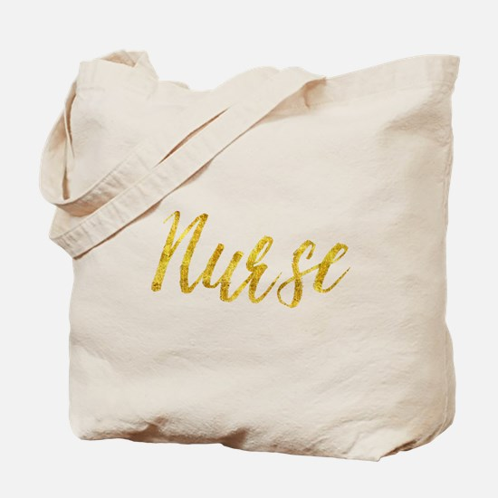 Nurse Gold Faux Foil Metallic Glitter Fri Tote Bag