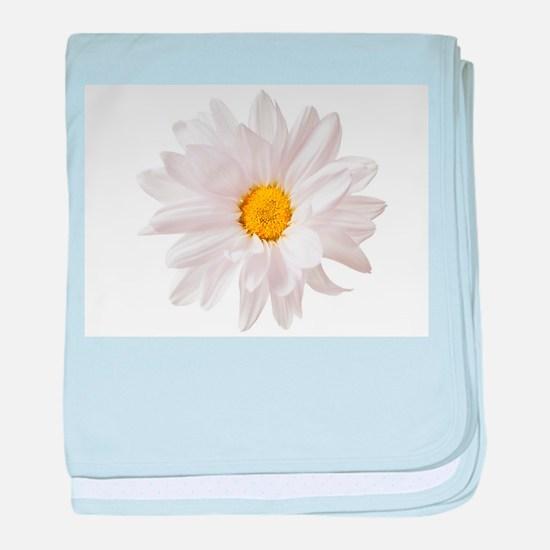 Daisy Flower White Yellow Daisies Flo baby blanket