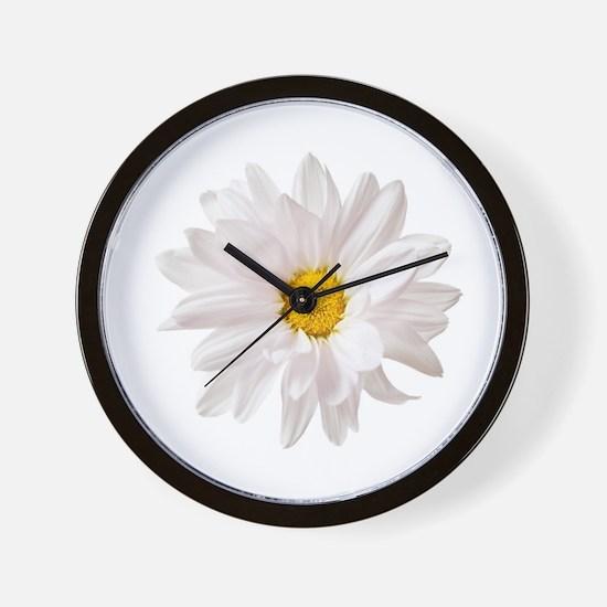 Daisy Flower White Yellow Daisies Flora Wall Clock