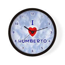 I Love Humberto (Blue) Valentine Wall Clock