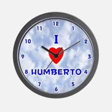 I Love Humberto (Blue) Valentine Wall Clock