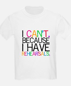 """I can't. Because..."" (color) T-Shirt"