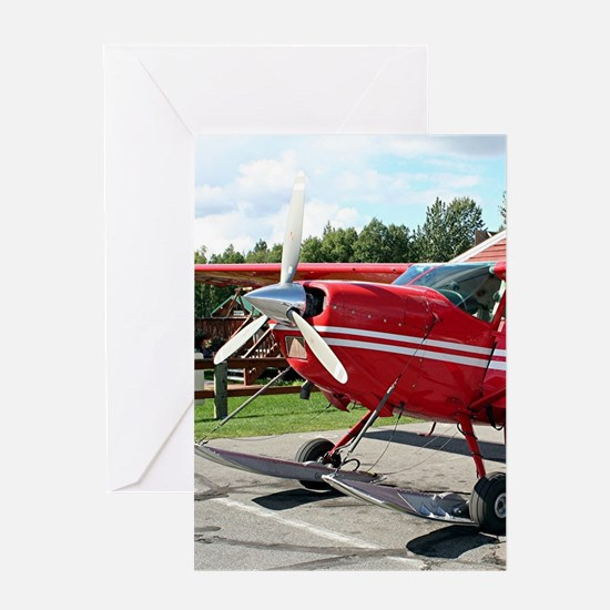 Ski plane, Talkeetna, Alaska Greeting Cards