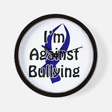 Anti-Bullying Blue Ribbon Wall Clock
