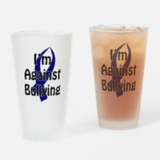Anti-Bullying Blue Ribbon Drinking Glass