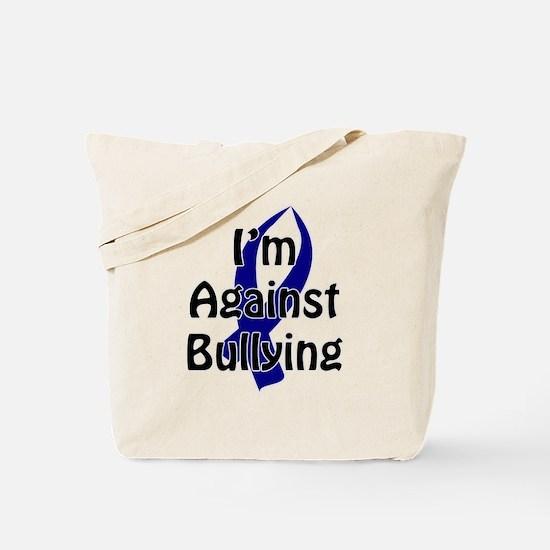 Anti-Bullying Blue Ribbon Tote Bag