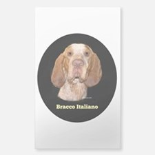Bracco Italiano Sticker (Rectangle)