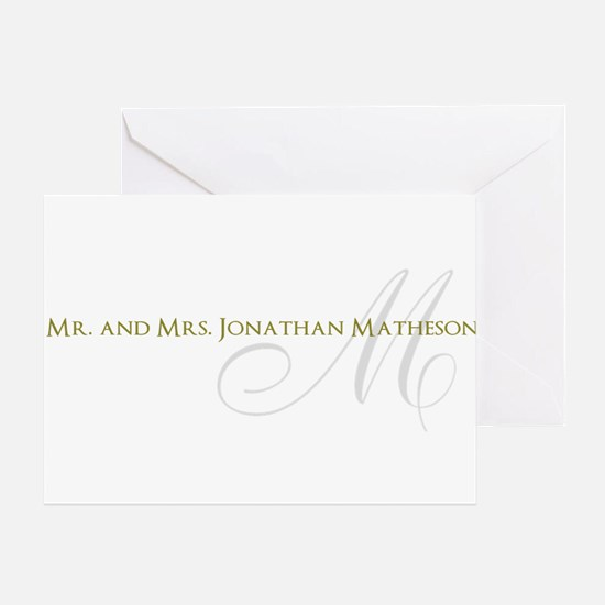Name and Monogram Design Greeting Cards