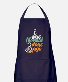 Normal 3 Dogs Ago T Shirt Apron (dark)