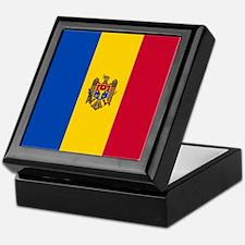 Flag of Moldova Keepsake Box