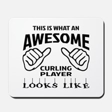 This is what an awesome Curling player Mousepad