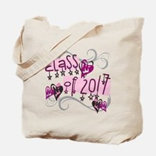 Class of 2017 Funky Stars Tote Bag