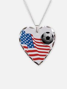 U.S. Soccer Flag Necklace