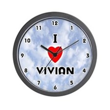 I Love Vivian (Black) Valentine Wall Clock