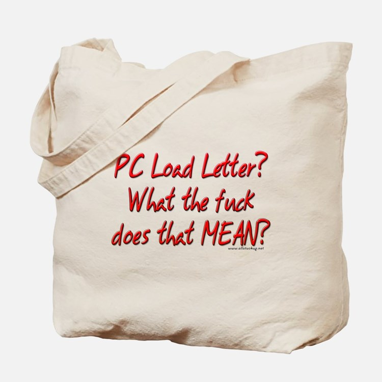Office Space PC Load Letter Tote Bag