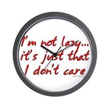 Office Space I'm Not Lazy Wall Clock