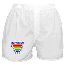 Alfonso Gay Pride (#005) Boxer Shorts