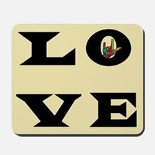 ASL Love Typography Mousepad