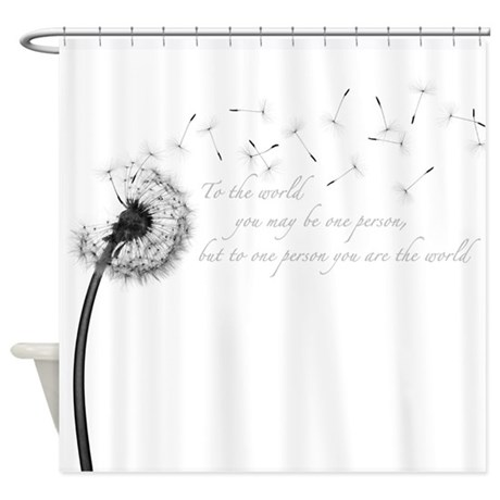 dandelion inspiration shower curtain by admin cp15375636