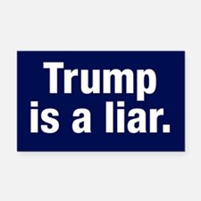 Trump Is A Liar Rectangle Car Magnet