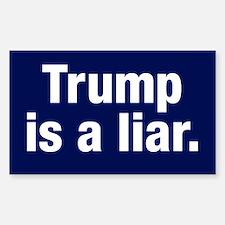 Trump Is A Liar Sticker (rectangle)