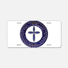 Western Cross Aluminum License Plate