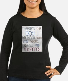 Baby Boy Quote for Mom Long Sleeve T-Shirt