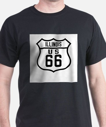 Route 66 Old Style - IL T-Shirt