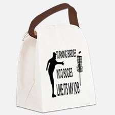 Funny Disc golf funny Canvas Lunch Bag