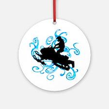 SNOWMOBILE Round Ornament