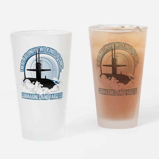 Submarines And Targets Drinking Glass