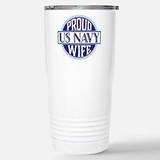 Proud US Navy Wife Travel Mug