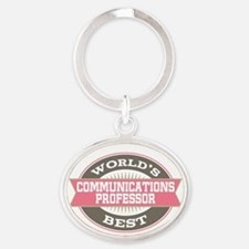 communications professor Oval Keychain