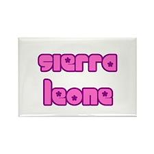 Cute Sierra Leone Girl Rectangle Magnet