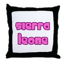 Cute Sierra Leone Girl Throw Pillow