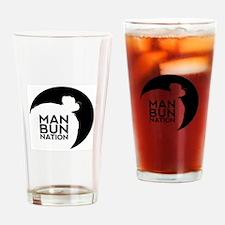 ManBunNation Drinking Glass