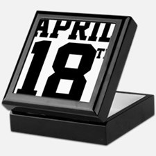 APRIL 18TH Keepsake Box
