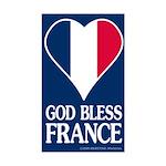 God Bless France Rectangular Sticker