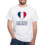 God Bless France White T-Shirt