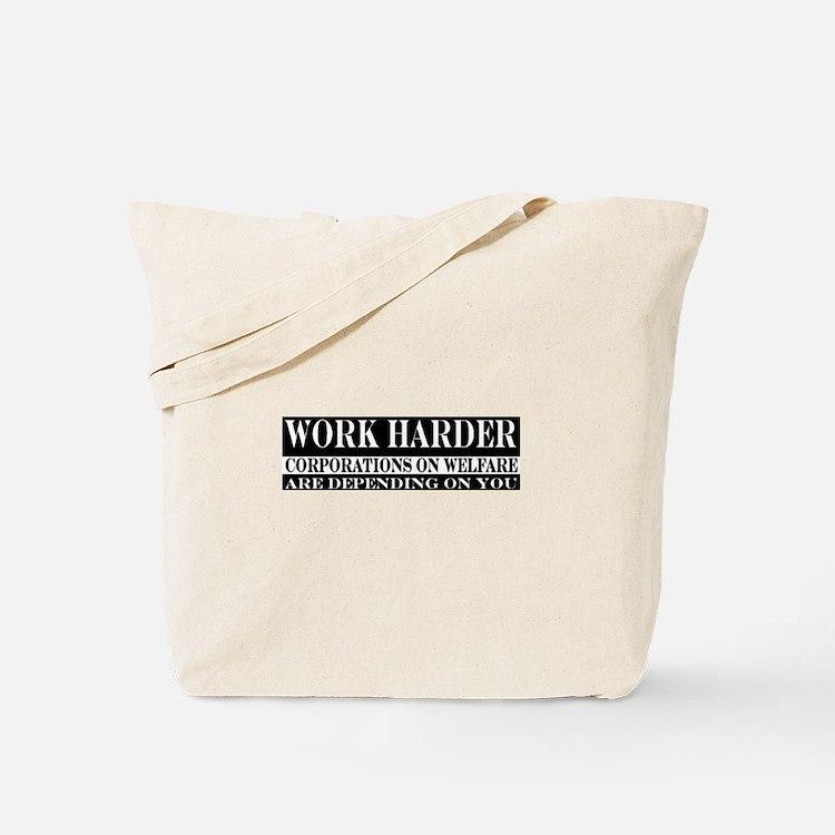 Corporate Welfare Tote Bag