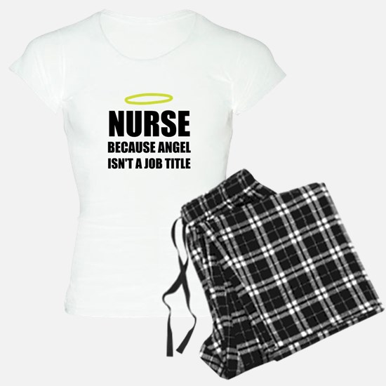 Nurse Angel Job Title Pajamas