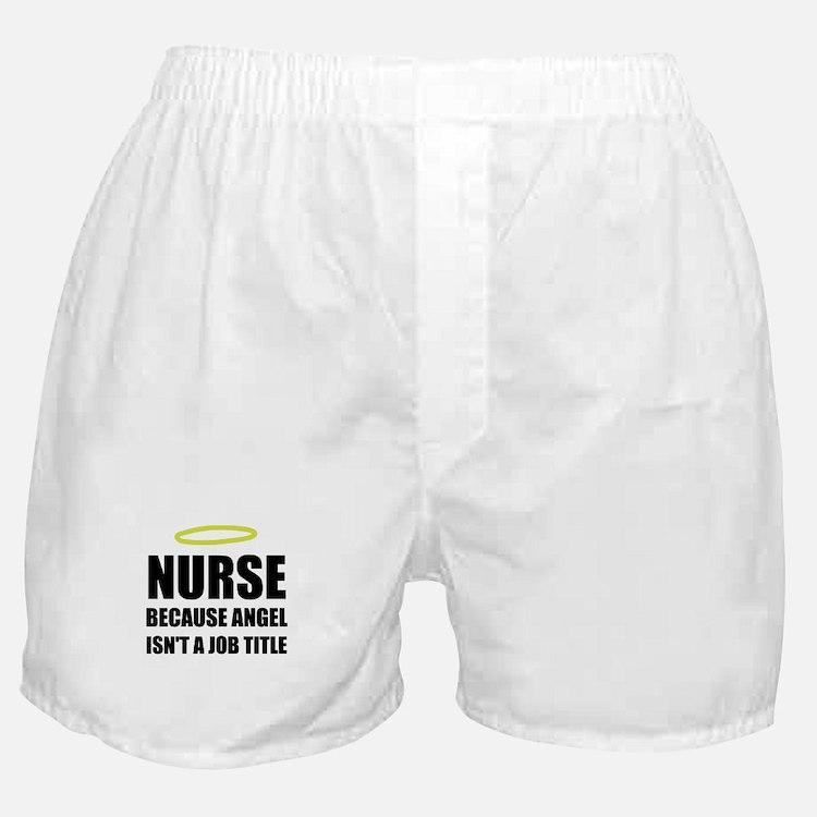 Nurse Angel Job Title Boxer Shorts