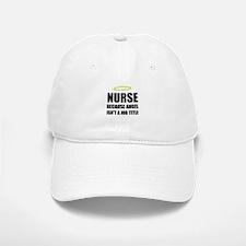 Nurse Angel Job Title Baseball Baseball Baseball Cap