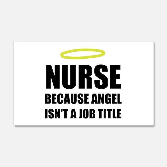 Nurse Angel Job Title Wall Decal