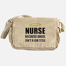 Nurse Angel Job Title Messenger Bag