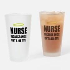 Nurse Angel Job Title Drinking Glass