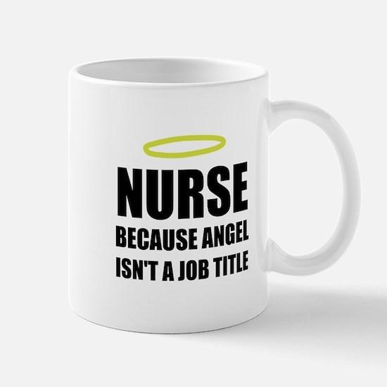 Nurse Angel Job Title Mugs