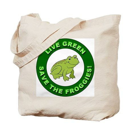 Live Green Environment Tote Bag