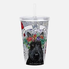 Scottie Christmas Snow Acrylic Double-wall Tumbler