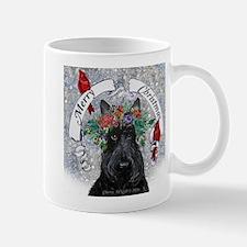 Scottie Christmas Snow Mugs